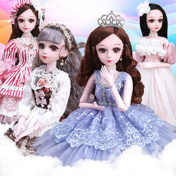 60CM BJD Doll 21 Joints Moveable To Ankle Wig Nude Lovely Girl Fashion Dress Various Style Clothes Accessories Special Gift Toys цена 2017