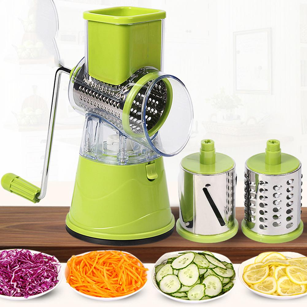 Kitchen Manual Vegetable Fruits Tools Cutter Slicer Carrot Potato rotary grater slicer in Graters multifunction Chopper Gadgets