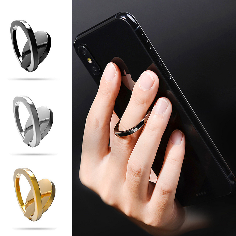 Luxury Metal Mobile Phone Socket Holder Universal 360 Degree Rotation Finger Ring Holder Magnetic For IPhone 8 X XS XSMAX XIAOMI
