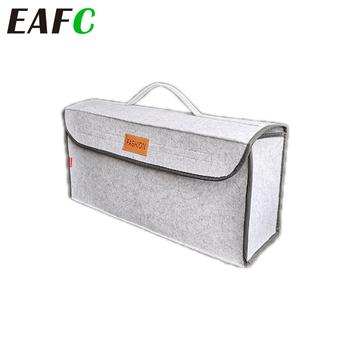 Do torby samochodu przechowywanie organizator bagażnika samochodowego rzeczy akcesoria samochody pojemnik na bagaże kieszonka podróżna Auto przechowalnia ładunków uchwyt multi-pocket tanie i dobre opinie EAFC CN (pochodzenie) Bagażnik Box Torba felt 50cm * 17cm * 24cm Trunk Box Bag Felt cloth Universal for all the cars and home
