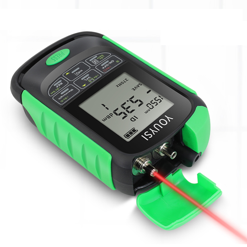 NEW Mini4 in 1 Multifunction Optical Power MeterNetwork Cable Test optical fiber tester Visual Fault Locator  5km 15km 30km Led