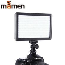 цены MAMEN LED Ring Light On Camera Video Studio For Youtuber Vlog 260 LED DSLR Photographic Lighting Lamp Makeup Dimmable Light Lamp