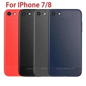 3 Colors New Luxury Soft Shockproof Case For Iphone7/8 Mobile Phone Back Cover Dirt-resistant Anti-knock Mobile Phone Accessory image