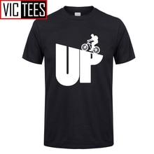 Camiseta para hombre, diseño personalizado, ciclismo de montaña, ciclismo, camisetas de ciclista, divertida camiseta de gran tamaño para hombre