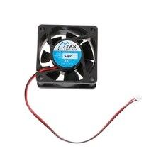 6025  DC 12V 24V 2-Pin Cooler Brushless PC CPU Case Cooling Fan 60mm-60mm-25mm G8TC