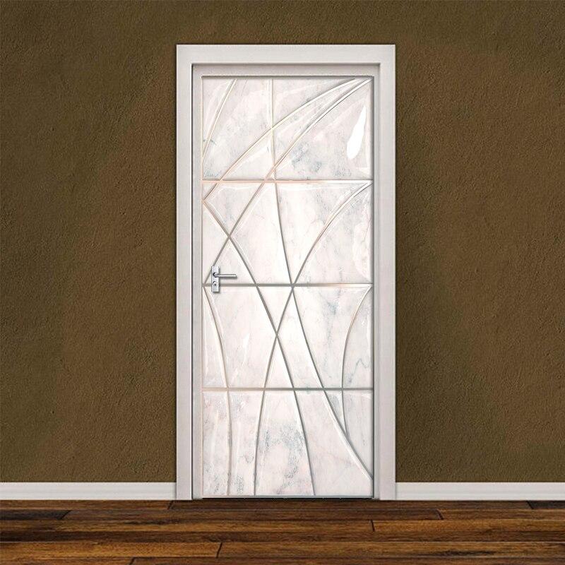 Купить самоклеящаяся дверная наклейка обои рельефная линия 3d мягкий