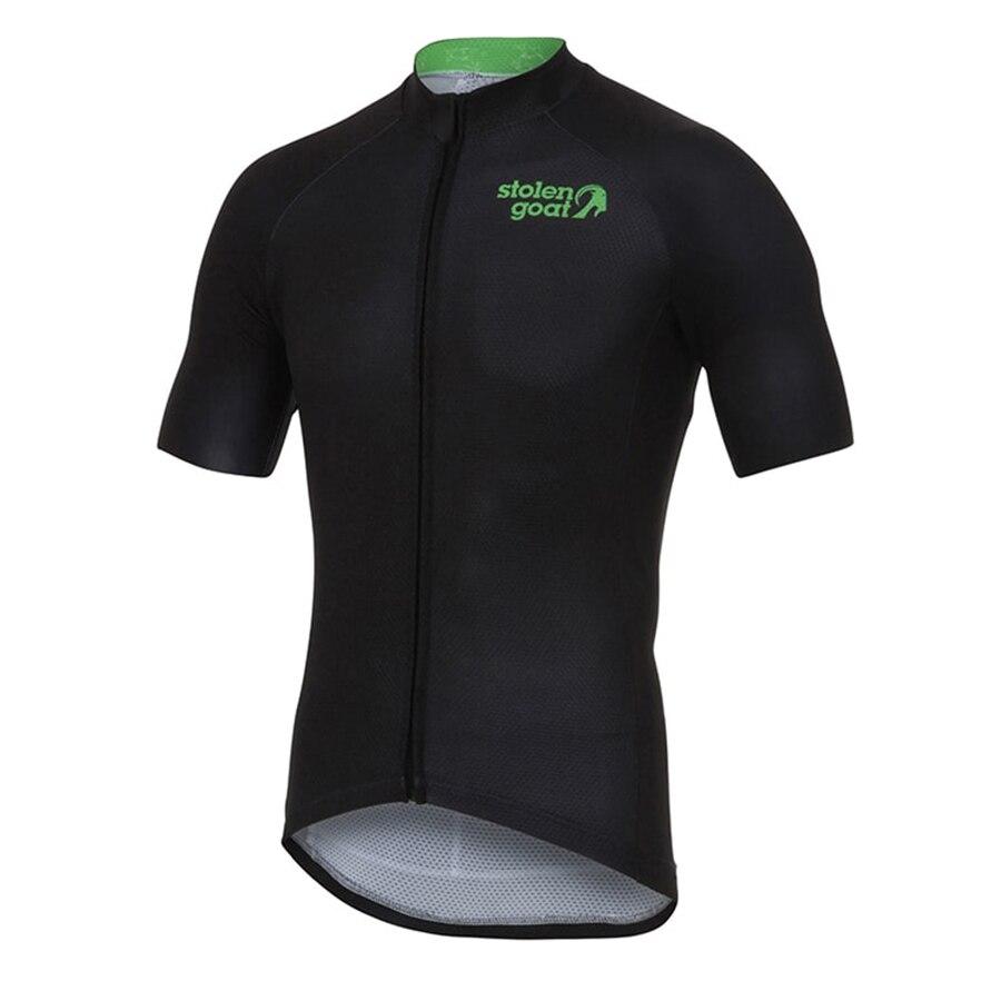 Roubado de Cabra 6 Cores Ciclismo Jersey de Manga Curta de Verão dos homens Roupas Mountain Bike MTB Corrida de Bicicleta Roupas Ciclismo Camisa