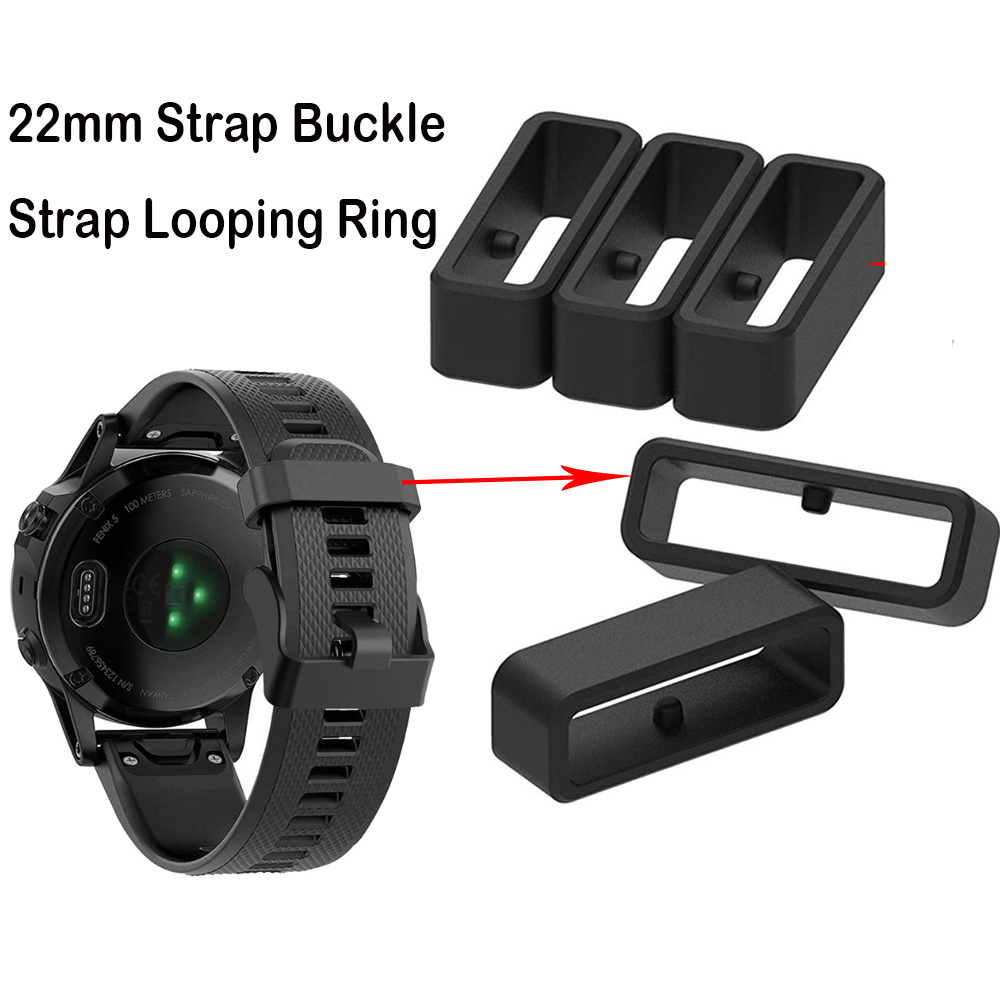 22mm Rubber Watch Strap Band Keeper Loop Security Holder Retainer Ring For Garmin Fenix 5 5 Plus For Forerunner 935 945 235 735