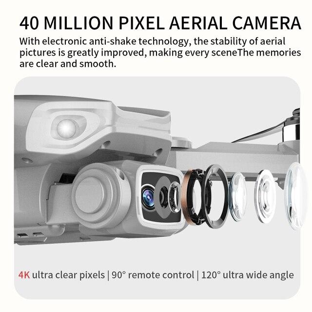 L900pro gps zangão 4k câmera dupla hd profissional fotografia aérea motor sem escova dobrável quadcopter rc distância 1200m 4