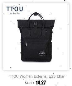 He26b267946144c2fbb69fb6fe793b8a7A TTOU Women External USB Charge Backpack Canvas School Backpack Mochila Escolar Girls Laptop Backpack