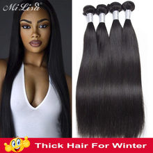 [ Winter Sale ] 10- 30 Inch Bundles Brazilian Straight Hair Weave 3 Bundles Deal Natural Remy 100% Human Hair Extensions Mi Lisa(China)