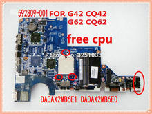 DA0AX2MB6E1 DA0AX2MB6E0 592809-001 Voor Hp Cq62 G62 CQ42 Laptop Moederbord G42 G62 CQ62 Notebook Pc 100% Getest Met Goede