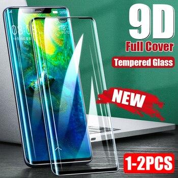 Перейти на Алиэкспресс и купить 9D Защита экрана для huawei хуавей mate 20 P30 Pro изогнутое закаленное защитное стекло для huawei P20 mate 10 30 Lite Nova 3 3i P Smart 2019 стекло телефон стакан защитная ...