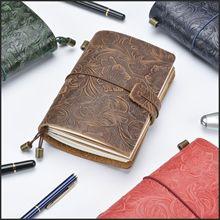 Крутой ежедневник из натуральной кожи для кармана «сделай сам», портативный дневник, ежедневник, 120 P, записная книжка, винтажные канцелярские принадлежности, подарок