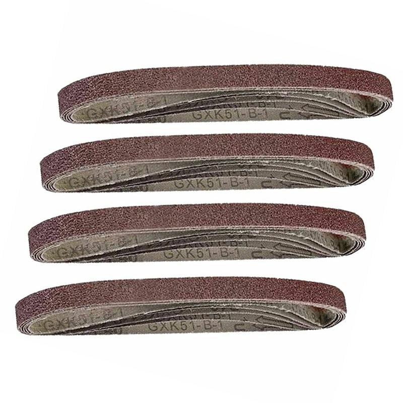 20 Pcs Set Sanding Belts Air Assorted Finger Woodworking Sanders Grinding Kit