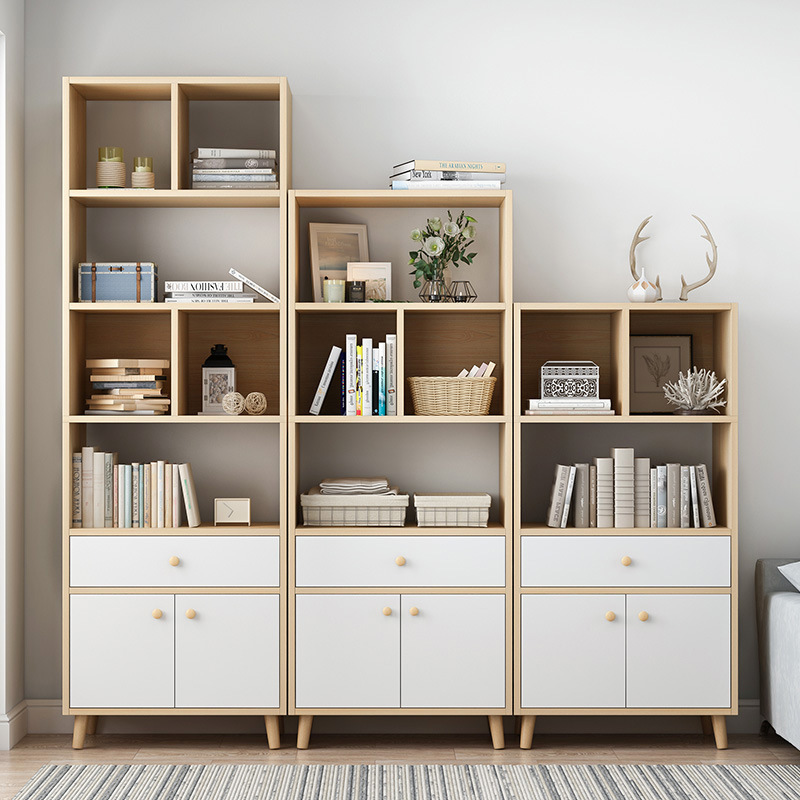 Bookshelf Simple Storage Shelf Students Bedroom Floor Small Bookcase Simplicity Living Room Province Space Economical Assembly S