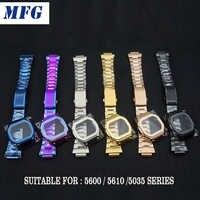 Stainless Steel Watch Bands bezel DW5600 DW5610 GW5000 GW5600 Series Watchbands Bracelet Fit For Watch Wholesale 2019