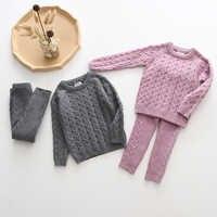 Baby Jungen Mädchen Kleidung Sets Herbst Winter Pullover + Hosen Infant Jungen Stricken Trainingsanzüge Kleinkind Mädchen Jungen Anzug Hoodies Hosen set
