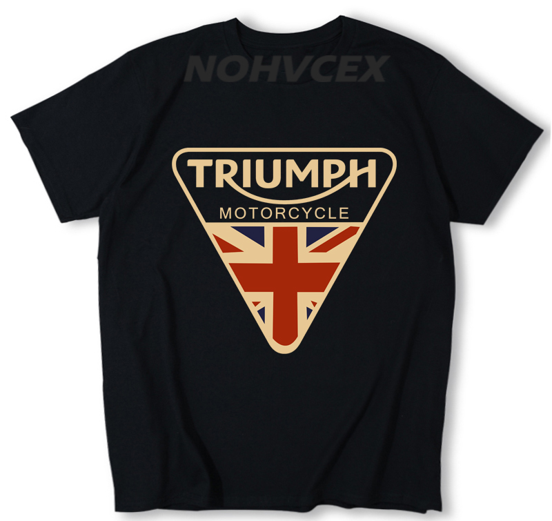 Mens T Shirts Fashion TRIUMPH MOTORCYCLE Logo T Shirt Cotton Leisure O Neck Short Sleeved T-shirts