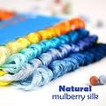 8 шт., Шелковые нитки для вышивки