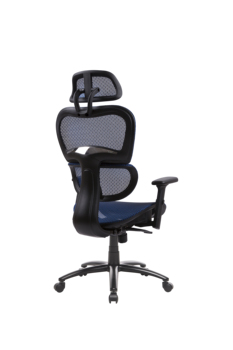Two Colors Ergonomic Office Chair Mesh Chair Computer Chair Desk Chair High Back Chair with Adjustable Headrest and Armrest-blue 6