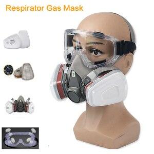 Image 1 - Demi visage respirateur masque à gaz charbon actif masque Anti poussière 6200 peinture pulvérisation soudage Anti Pollution sécurité travail Virus masque