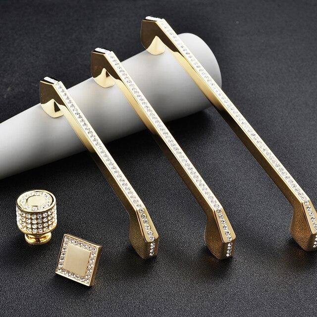 Купить роскошные золотые серебряные ручки хрустальные из цинкового