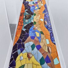 Креативные разноцветные коврики для прихожей с рисунком разбитой