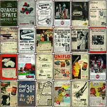 Motor Oil Shabby Chic Metal Signs Vintage  Tin Plates For Wall Bar Home Garage Decoration 30X20CM SA-6938A