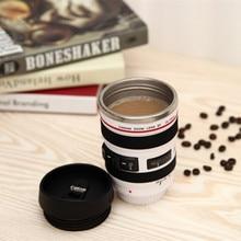 2020 400ml New Coffee Lens Emulation Camera Mug Beer Wine With Lid Black Plastic Cup  Logo Mugs Cafe