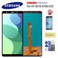 Дисплей 6,0 дюйма для Samsung Galaxy A7 2018 A750, ЖК-дисплей с рамкой, сенсорный экран в сборе, запасные части