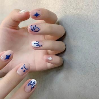 24 sztuk Nail Patch wymienny rodzaj kleju moda Manicure fałszywe poręczne krótkie paznokcie prezenty dla dziewczyny BUTT666 tanie i dobre opinie Aihogard CN (pochodzenie) Palec short 24pcs 310887 Z żywicy normal Sztuczne paznokcie Pełne końcówki paznokci