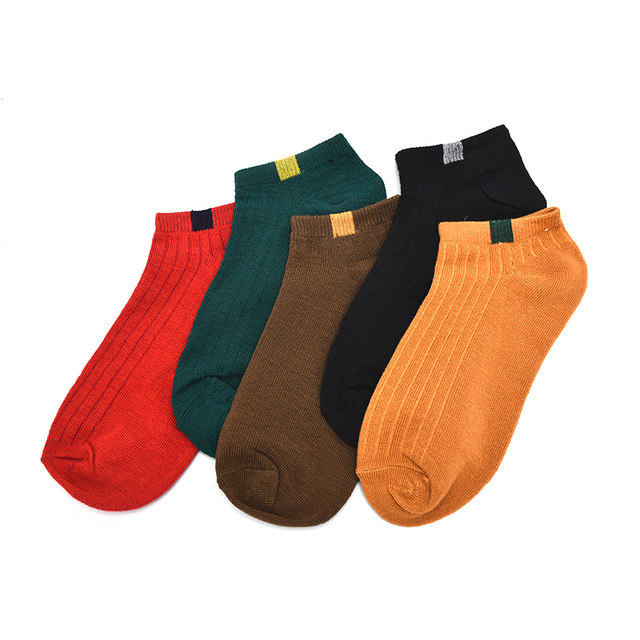 1Pairs High Quality Short Ankle Socks Women Comfortable Stripe Cotton Socks Women Slippers Fashion Random Color