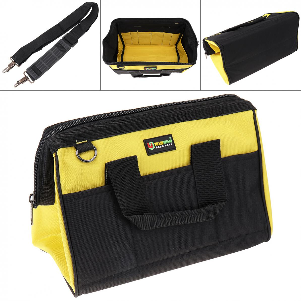 14 Inch Oxford Cloth Waterproof Hand Shoulder Dual-purpose Tool Bag With 18 Pockets And Hanging Strap For Maintenance Tools