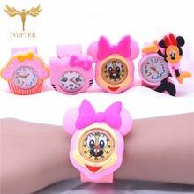 Pink Girls Watch 3d Cartoon Rubber Watches