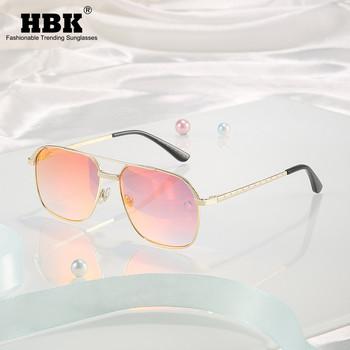 HBK kwadratowe okulary mężczyźni kobiety klasyczny Steampunk oprawki ze stopu okulary lustro lato dla mężczyzn poza jazdy UV400 óculos tanie i dobre opinie CN (pochodzenie) Akrylowe SQUARE Dla osób dorosłych 47mm K35373-Fashion Men Sunglasses 58mm