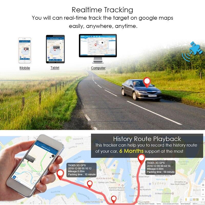 Vehicle Tracker Standby Magnet-Voice-Monitor Gps Locator Tkstar Tk905 GPRS Waterproof