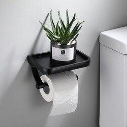 Держатель для туалетной бумаги из нержавеющей стали, настенный держатель для ванной комнаты, держатель для туалетной бумаги, Полка для поло...