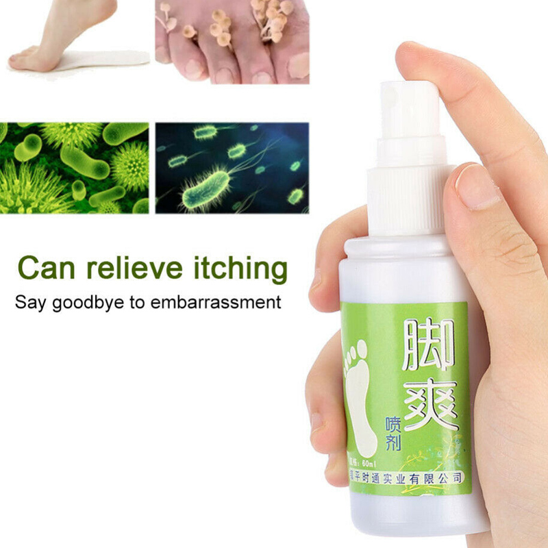 60ml Foot Shoe Antifungal Deodorant Spray Odor Destroy Agent For Feet Medical Formula Athlete's Foot Treat Spray