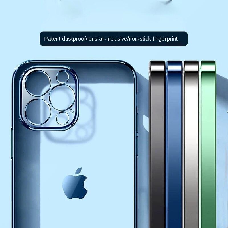 Роскошный прозрачный матовый мягкий чехол с рамкой с покрытием для iPhone 12 11 Pro Max Mini X XR XS 6s 7 8 Plus SE 22020, прозрачный силиконовый чехол