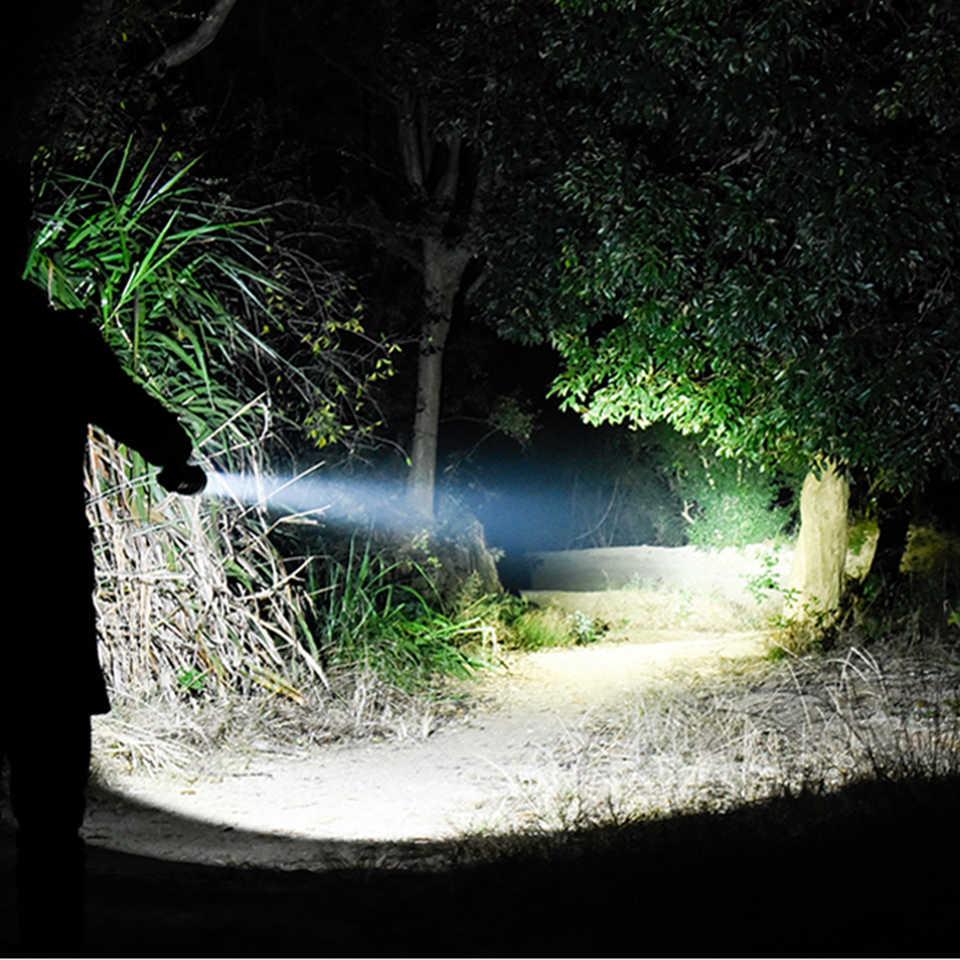 Latarka led cree xhp70 usb ładowanie Stretch zoom odporny na wstrząsy power bank 18650 ładowalna latarka latarka
