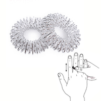 100Pcs Stainless Steel Finger Massage Acupuncture Hand Massager Relax Hand Blood Circulation Pain Relief Health Care