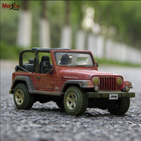Maisto 1:24 Old version Jeep Wrangler Alloy Racing Convertible alloy car model simulation car decoration collection gift toy