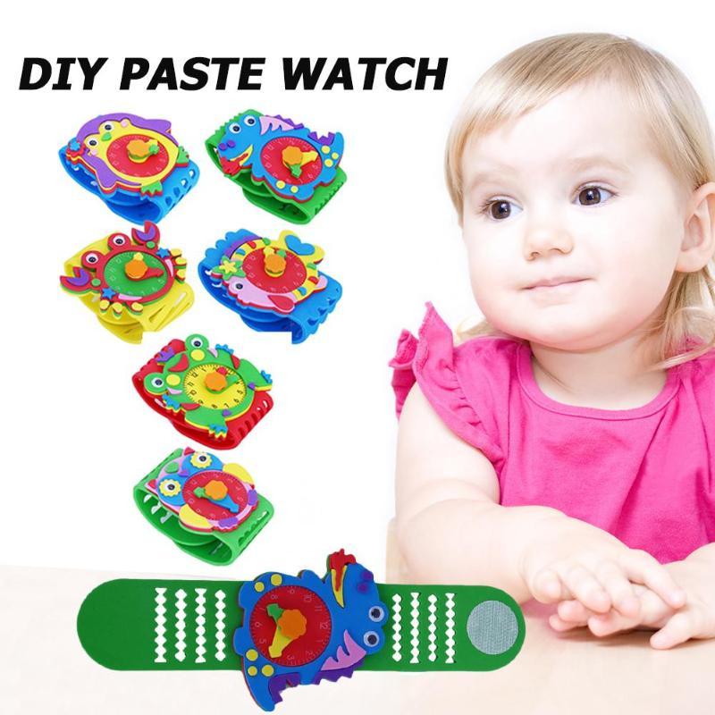 New DIY Handmade Watch In Kindergarten Children EVA Fancy Paste Toy Parent-child Activities Intelligence Development Training