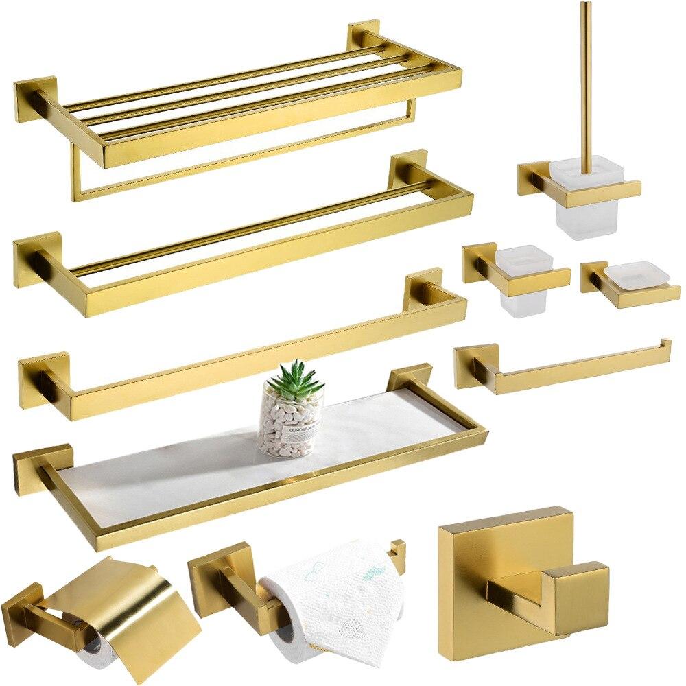 Светло Золотое полотенце Arck, матовый золотой набор оборудования для ванной комнаты, золотые аксессуары для ванной комнаты, 60 см Полка для по