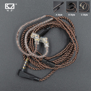 Image 1 - KZ Cable ZSN Pro Original Replaceble Wire With 3.5mm 2Pin 0.75mm Connector Oxygen Free Copper For CCA C12 KZ ZST/ZS10/ZSX/AS16
