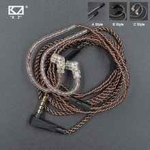 KZ Kabel ZSN Pro Original Ersetzbar Draht Mit 3,5mm 2Pin 0,75mm Stecker Sauerstoff Freies Kupfer Für CCA C12 KZ ZST/ZS10/ZSX/AS16