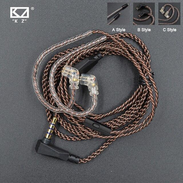 كابل KZ ZSN Pro سلك بديل أصلي مع 3.5 مللي متر 2Pin 0.75 مللي متر ...