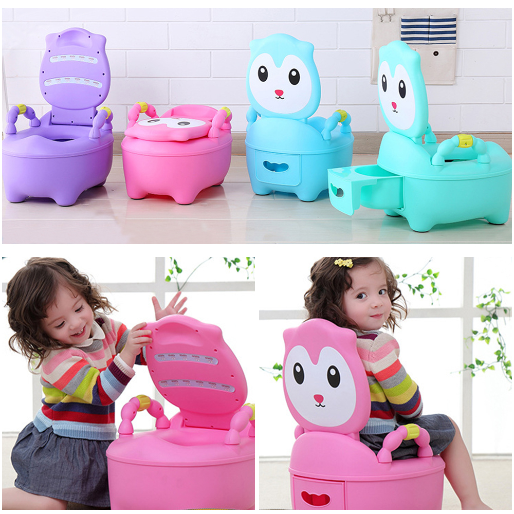 Baby Potty For Children Baby Potty Training Boys Toilet Seat  Girls Portable Toilet Bedpan Comfortable Backrest Cartoon Pots