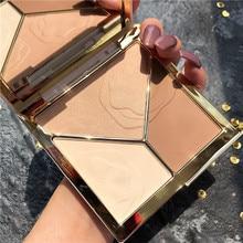 Novo 3d bronzer highlighter para rosto maquiagem vara creme textura contorno iluinador maquiagem highlighter bronzer